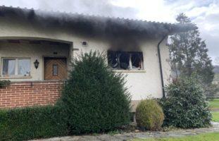 Büsserach SO - Brand in Einfamilienhaus