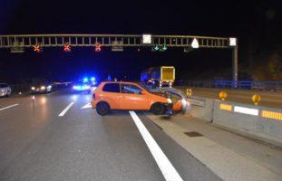 Hägendorf SO - Crash mit zwei Autos auf der Autobahn