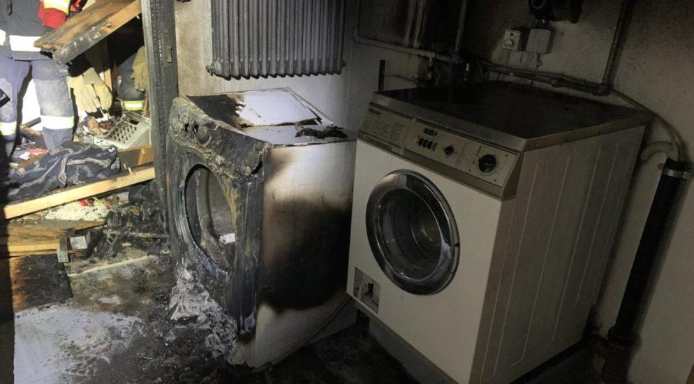 Waschküchenbrand in Löhningen