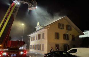 Wohnhausbrand in Marly FR