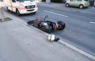 Motorradlenker nach Auffahrunfall in Chur verletzt