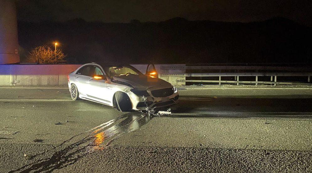 Würenlos AG - Heftiger Crash auf der Autobahn A1