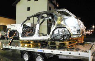 Rothenthurm: Abbruchauto in Brand geraten