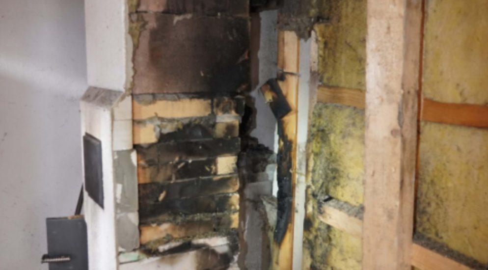 Brand in einem Ferienhaus in Wassen