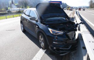 Unfall auf der A1 bei St.Margrethen SG