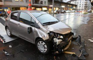 Heftiger Unfall in der Stadt Luzern