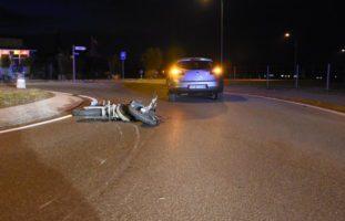 Tübach SG: Crash zwischen Auto und Motorradlenker