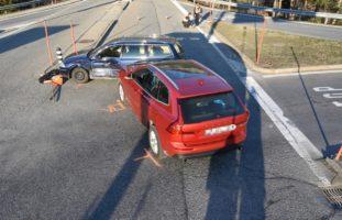 Thusis GR - Zwei Verletzte bei Crash