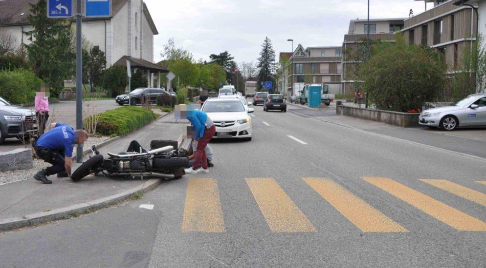 Kriegstetten SO: Crash zwischen Auto und Motorradlenker
