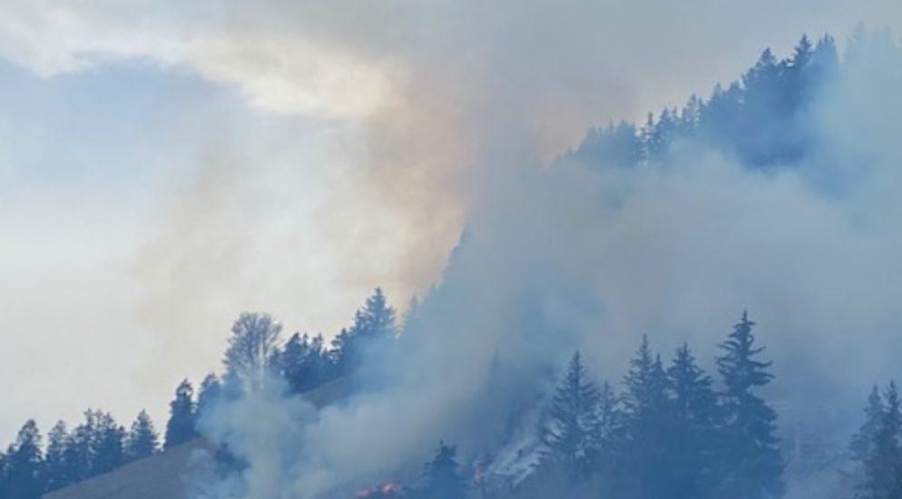 Waldbrand in Crésuz FR