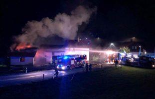 Treyvaux FR - Brand in einem Nebenraum eines Hauses