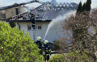 Brand in Einfamilienhaus in Wiedlisbach BE