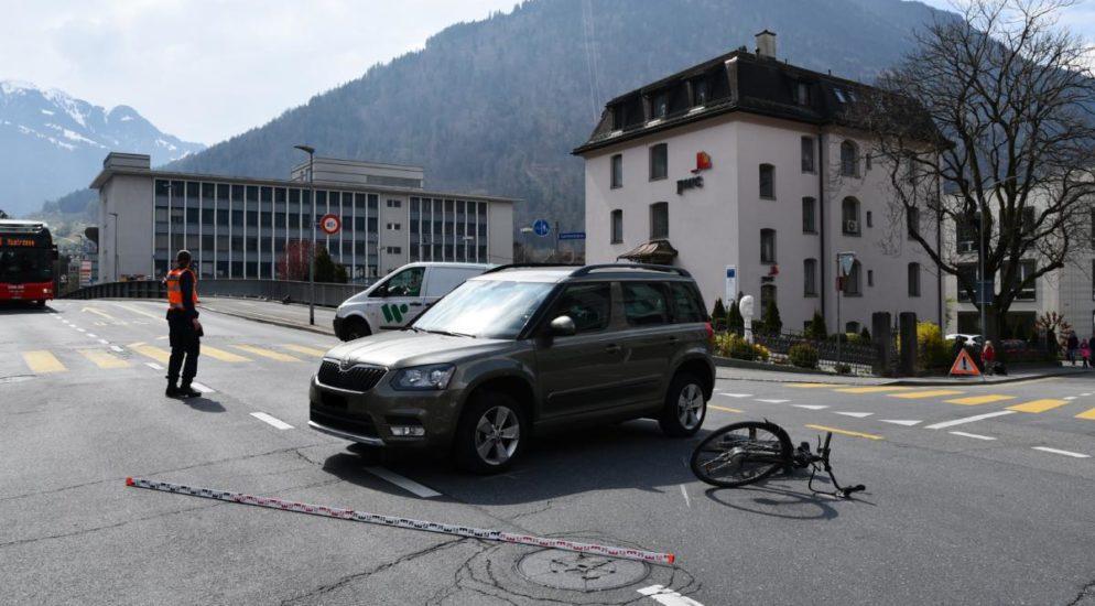 E-Bikefahrerin bei Verkehrsunfall in Chur verletzt