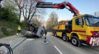 Allschwil BL - Selbstunfall mit Traktor verursacht