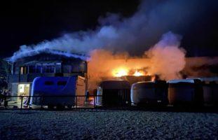 Strohlager in Pferdeanlage in Würenlos in Brand geraten
