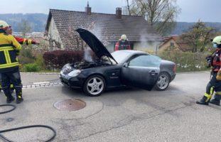 Ersthelfer nach Autobrand in Thayngen gesucht