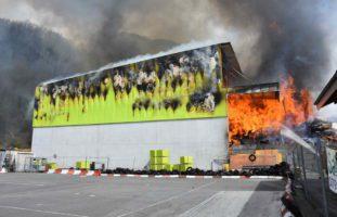 Brand in Sargans: 100 Personen im Einsatz