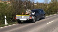 Neunkirch SH - Autolenker kracht in Anhänger