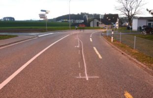 Motorradunfall in Lömmenschwil SG
