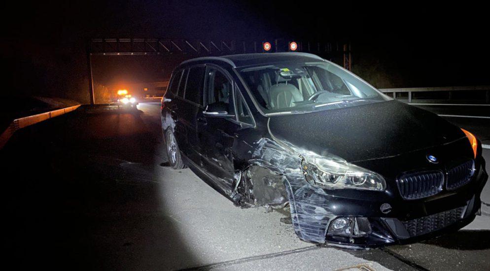Cham: Selbstunfall auf der Autobahn