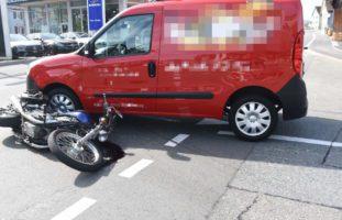 St. Margrethen SG: Motorradfahrer (37) verunfallt