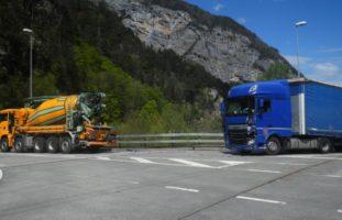Erstfeld UR - Kollision bei der Autobahnausfahrt A2