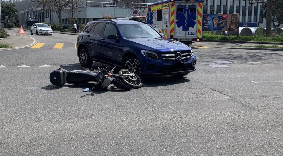 Motorradlenker (40) nach Unfall in Schaffhausen verletzt