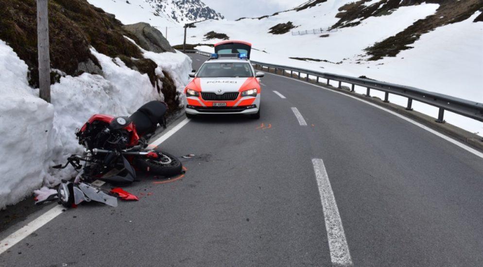 Drei Motorradunfälle in Graubünden GR