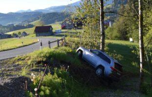 Schwellbrunn AR - Lenker entfernt sich unerlaubt von verunfalltem Auto