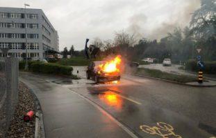 Autobrand in Oberbüren SG