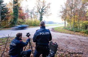 Geschwindigkeitskontrolle in Tegerfelden AG