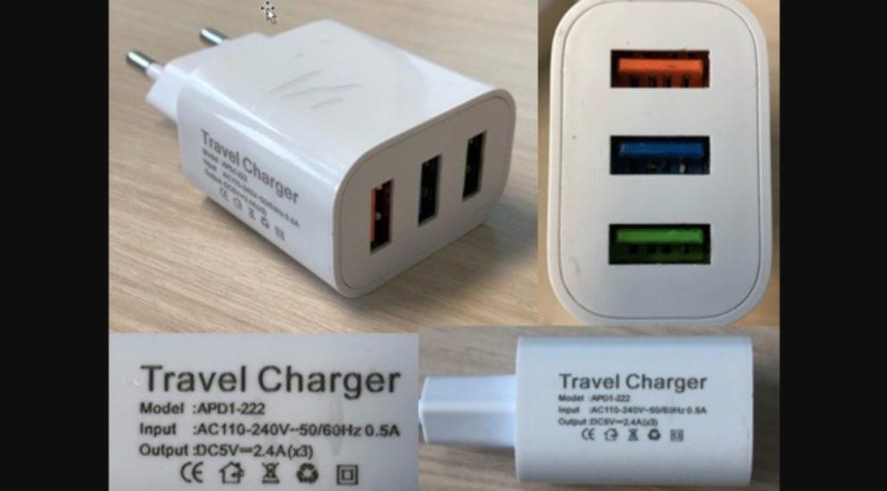 Sicherheitswarnung für USB-Ladegerät