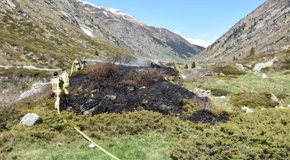Medel: Brand im Val Medel rasch gelöscht