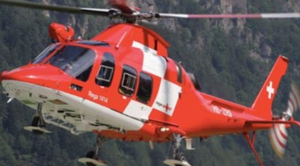 Schattdorf UR - Verletzte Kletterin mit Rega ins Spital geflogen