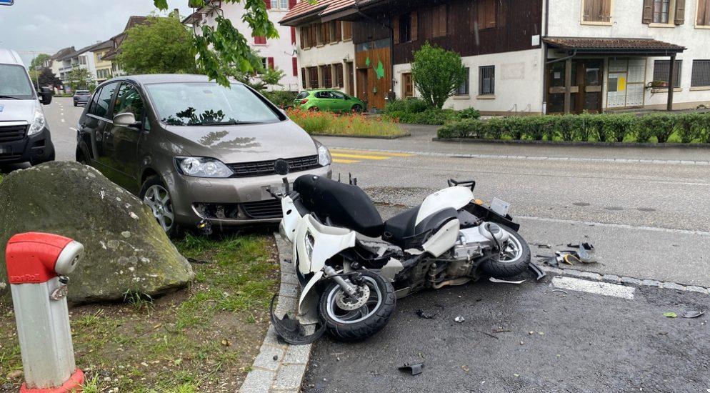 Fulenbach SO: Ein Verletzter bei Motorradunfall