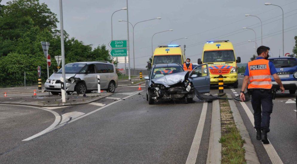 Kriegstetten SO: Lenkerin bei Unfall mittelschwer verletzt