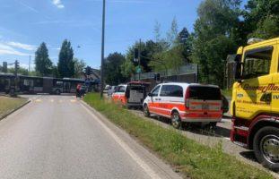 Unfall in Winterthur-Wülflingen führt zu Verkehrsbehinderungen