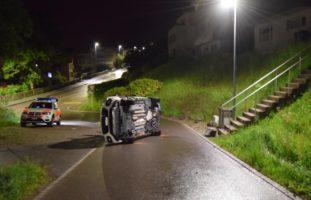 Herisau AR - Mann verunfallt bei Alkohol-Fahrt