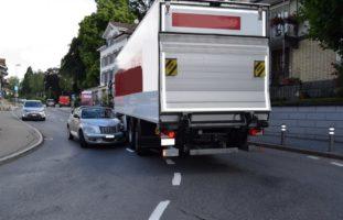 Heiden AR - Crash zwischen LKW und Auto