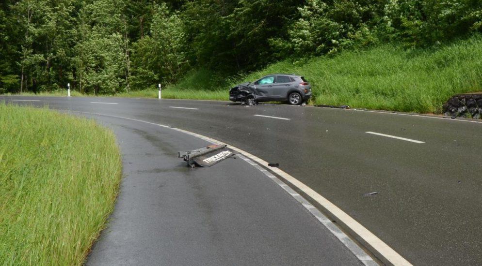 Totalschaden nach heftigem Crash in Rehetobel AR