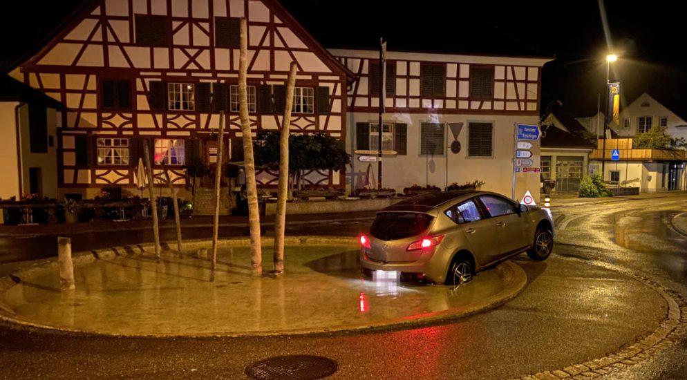 Alkoholisiert Unfall in Steckborn TG gebaut