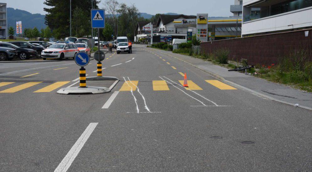 Diepoldsau SG: Velofahrer nach Kollision unbestimmt verletzt