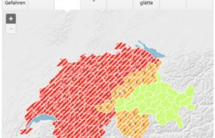 Warnung vor heftigen Gewittern in der Schweiz