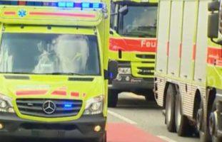 Verletzte Feuerwehrmänner bei Einsatz in Enggistein BE