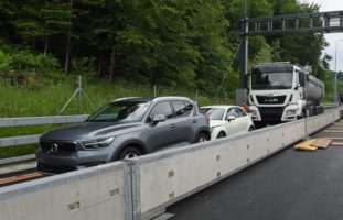 Unfall in Horw LU auf der A2