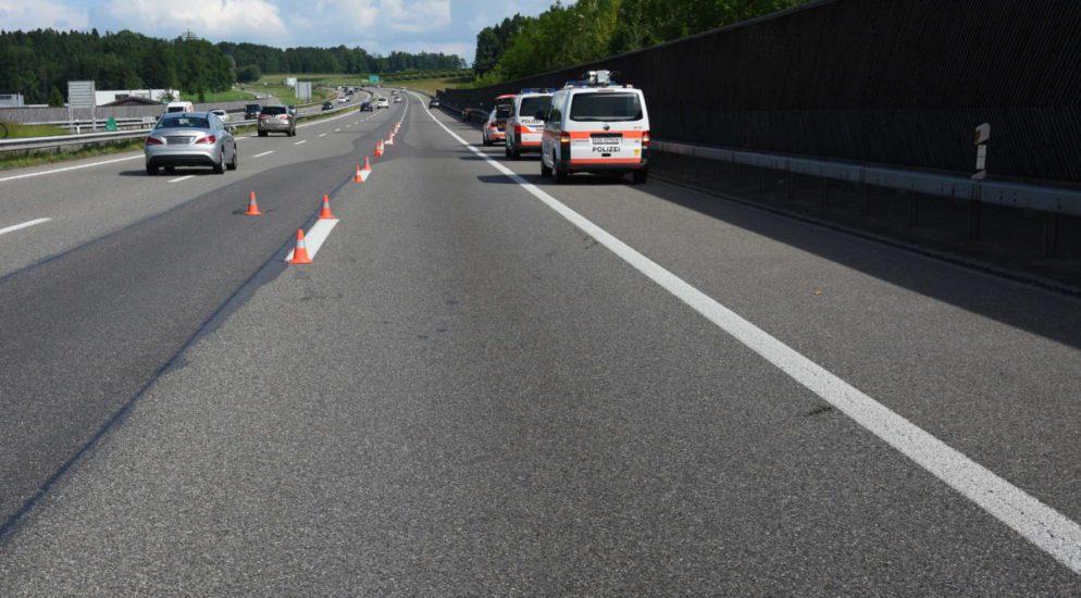 Oberbüren SG: Motorradlenker (32) bei Spurwechsel auf A1 verunfallt