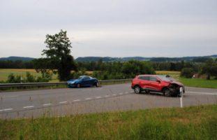 Rüdlingen SH: Auffahrunfall zwischen Personenwagen