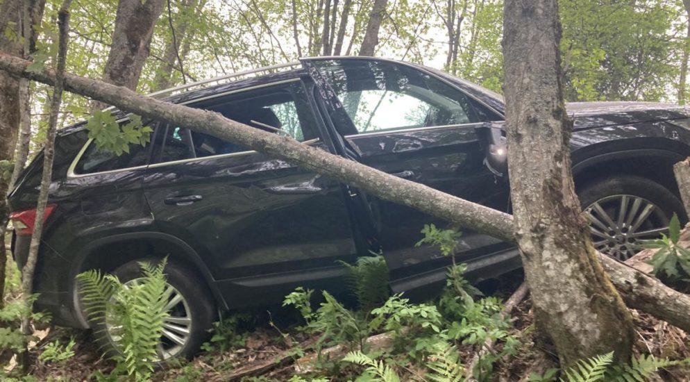 Selbstunfall auf einer Waldstrasse im Wijenegg in Matt