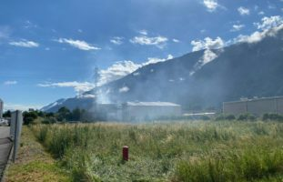 Martinach VS: Brand in Produktionshalle
