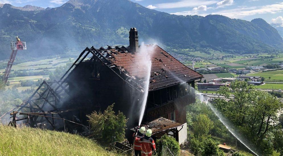 Mastrils GR: Wohnhaus von Feuer zerstört